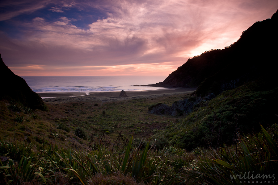 Karekare Beach Sunset