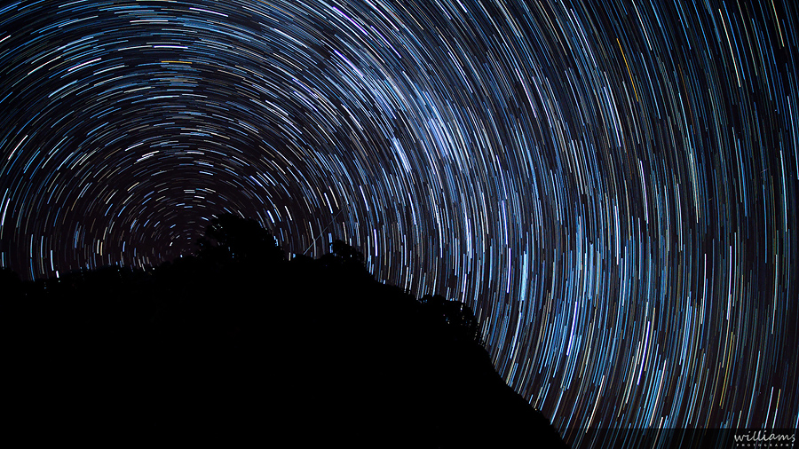 Startrail over Auckland