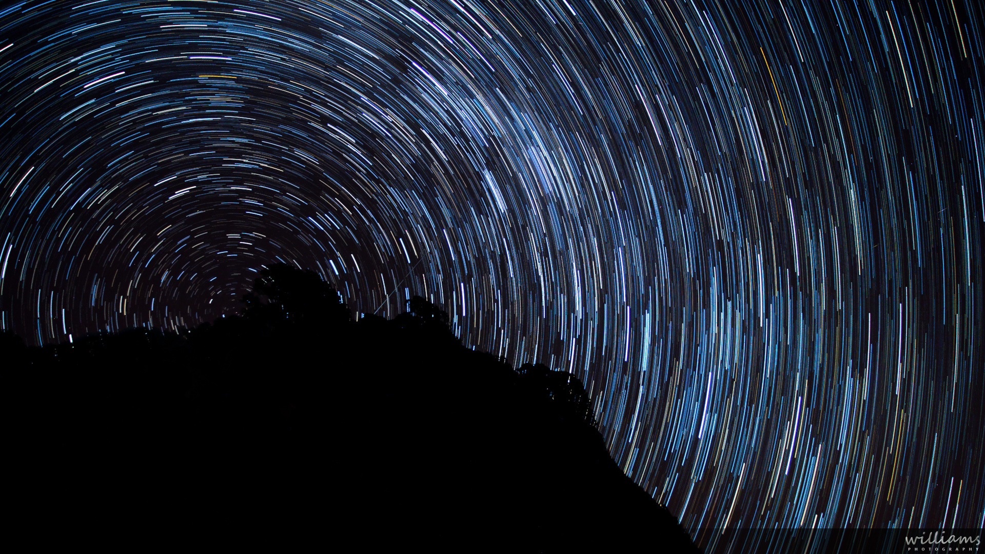 star trails over new zealand -- astronomy & celestial in photography