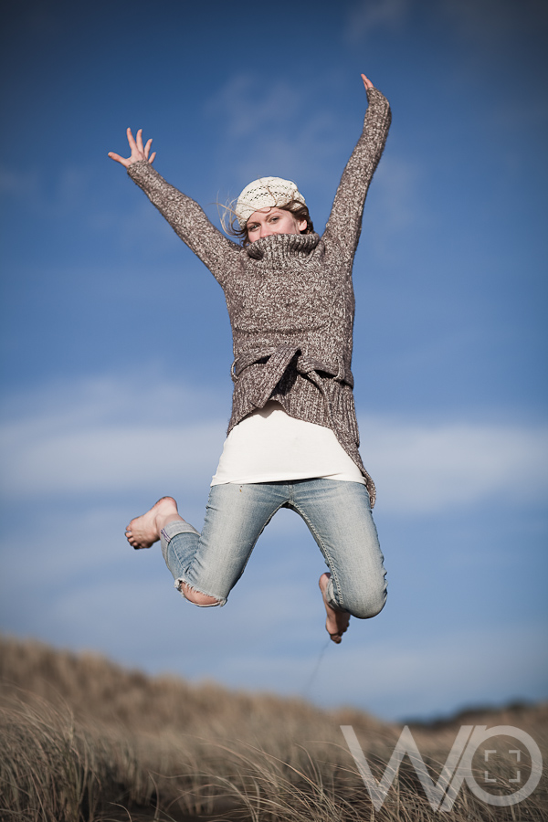 Jumping Beach Photo