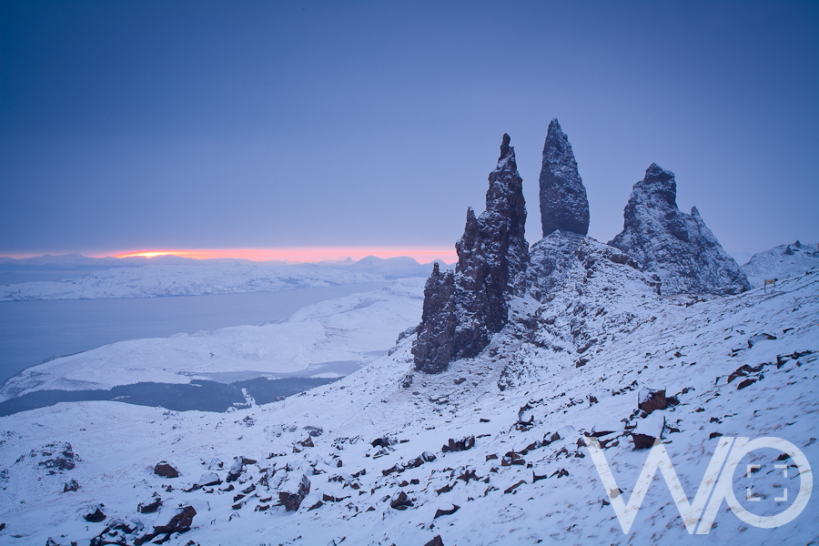 Old Man of Storr Snowy Sunrise