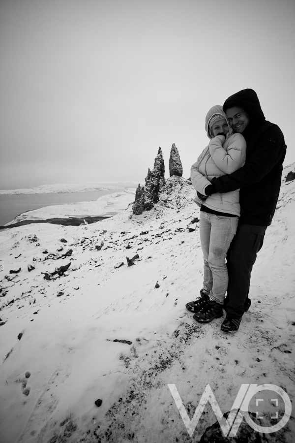 Engaged on Old Man of Storr, Scotland