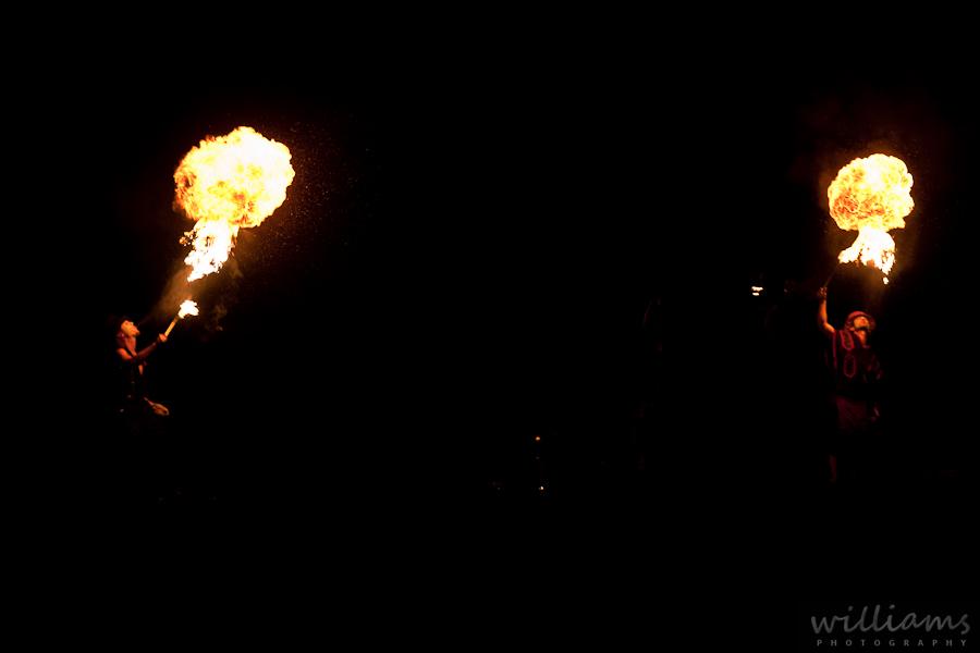 Double fire breathing