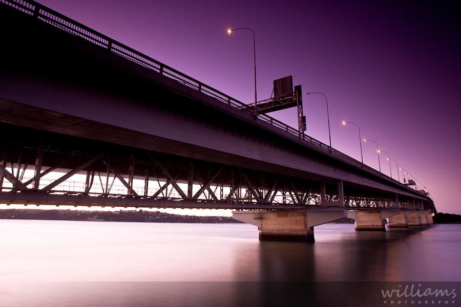 Auckland Harbour Bridge Sunset