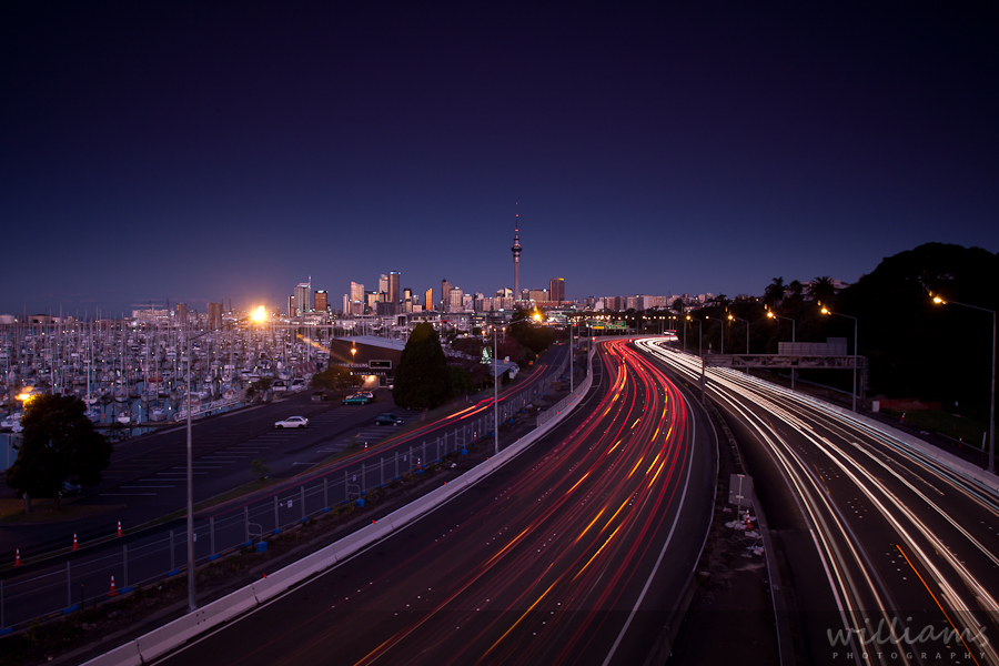 Auckland City Light Trails