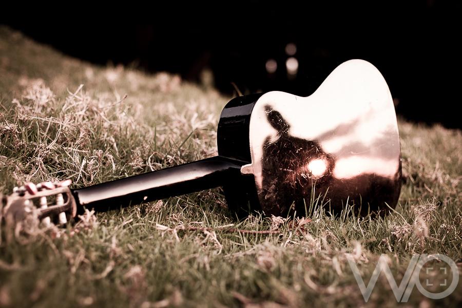 Reflecting Guitar Sunset