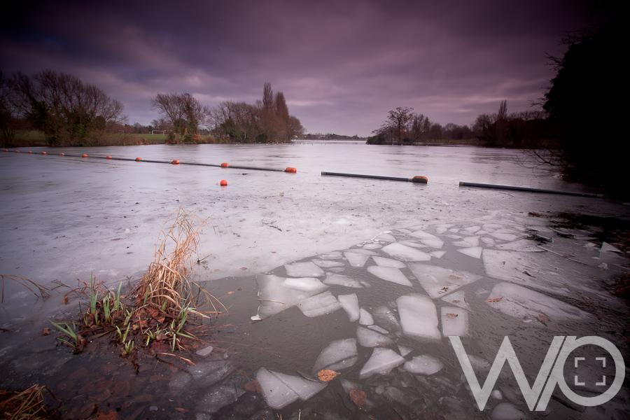 Frozen Danson Lake