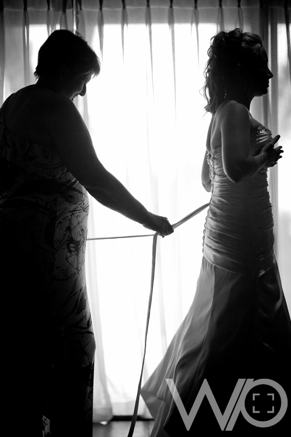 Bridal Dress fitting silhouette