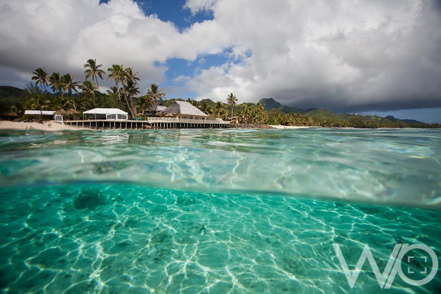 Split photo Rarotonga