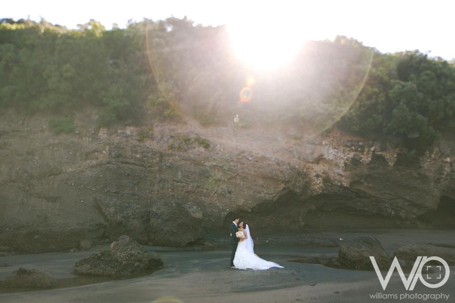 Bethells Beach Wedding Photos