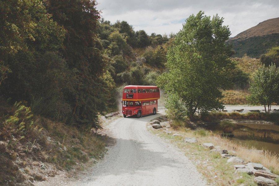 Double Decker Bus Queenstown Wedding