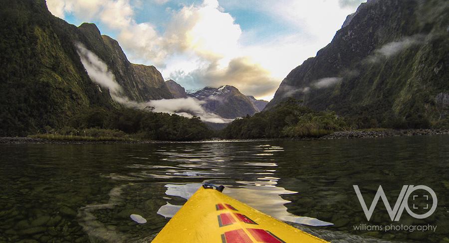 Go Pro Kayak Milford Sound