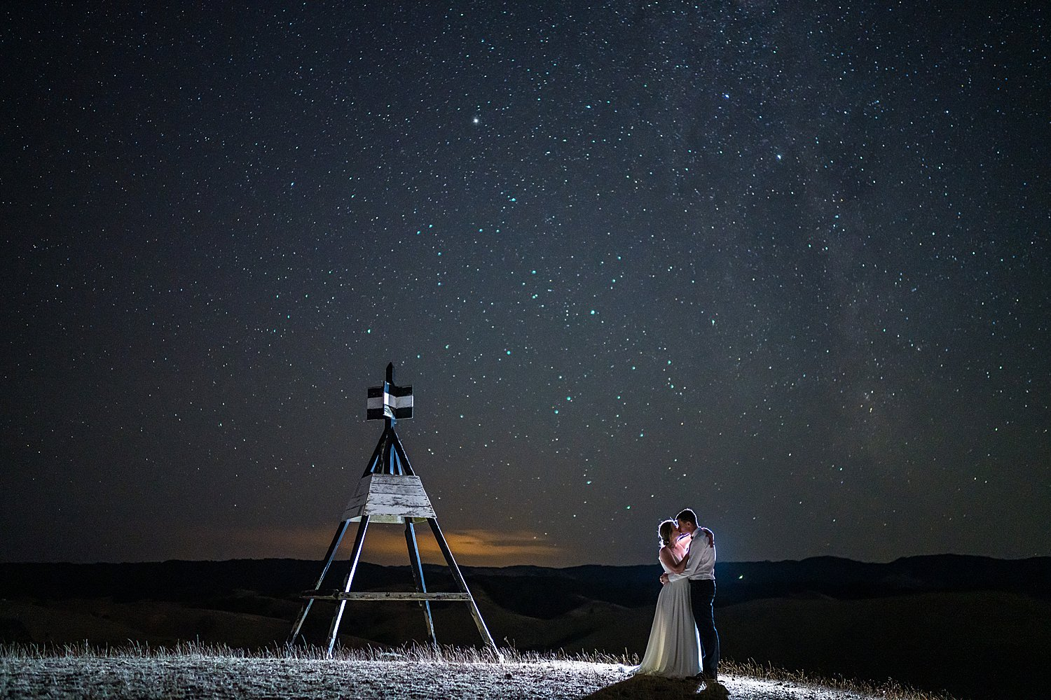 Night Sky Wedding Photos Auckland