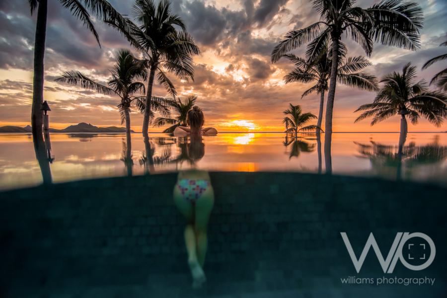 Tokoriki Island Resort Pool Sunset