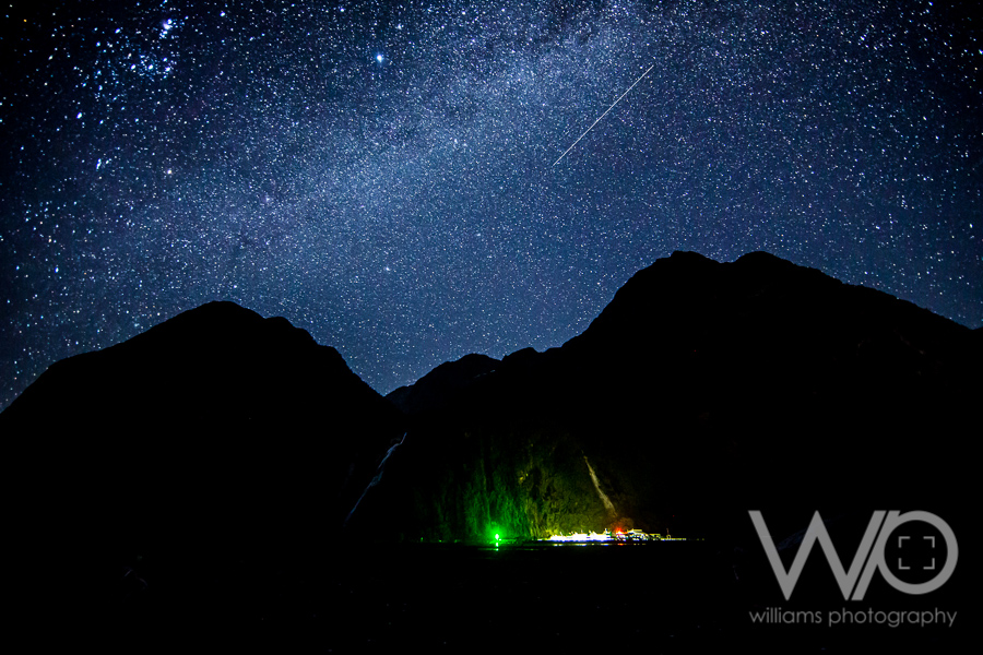 Milky Way over Milford Sound