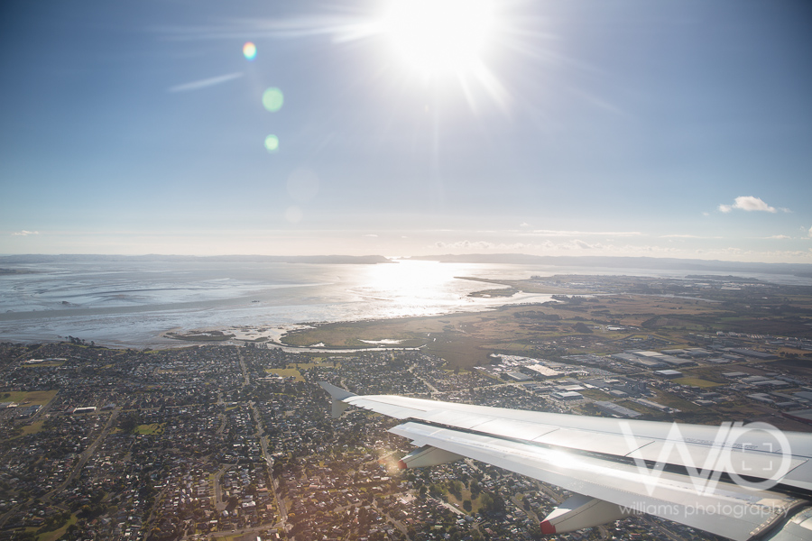 Flying into Auckland