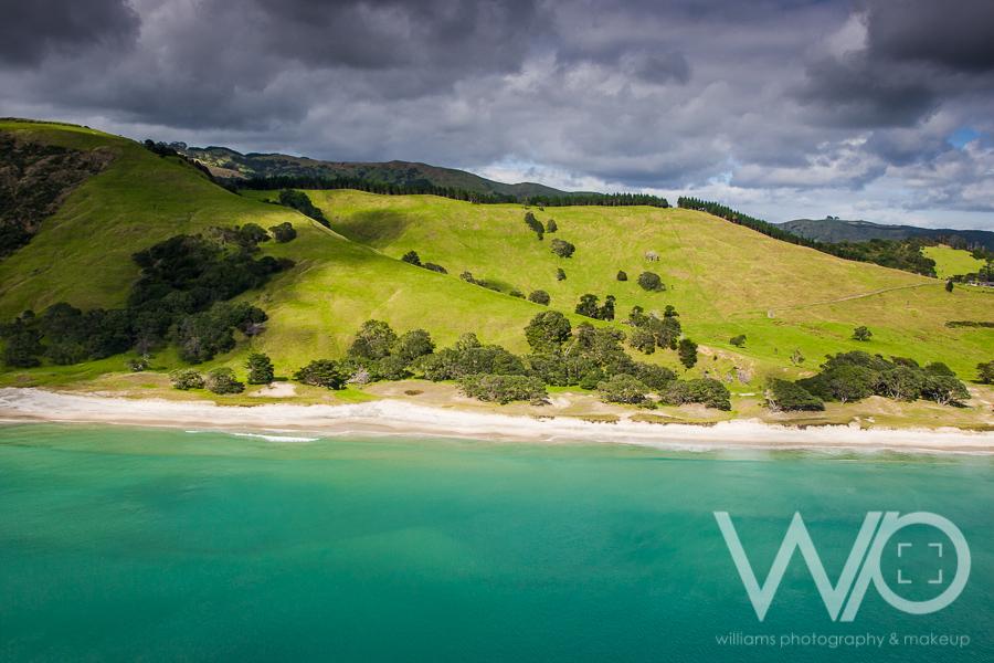 Pakiri Beach aerial photo