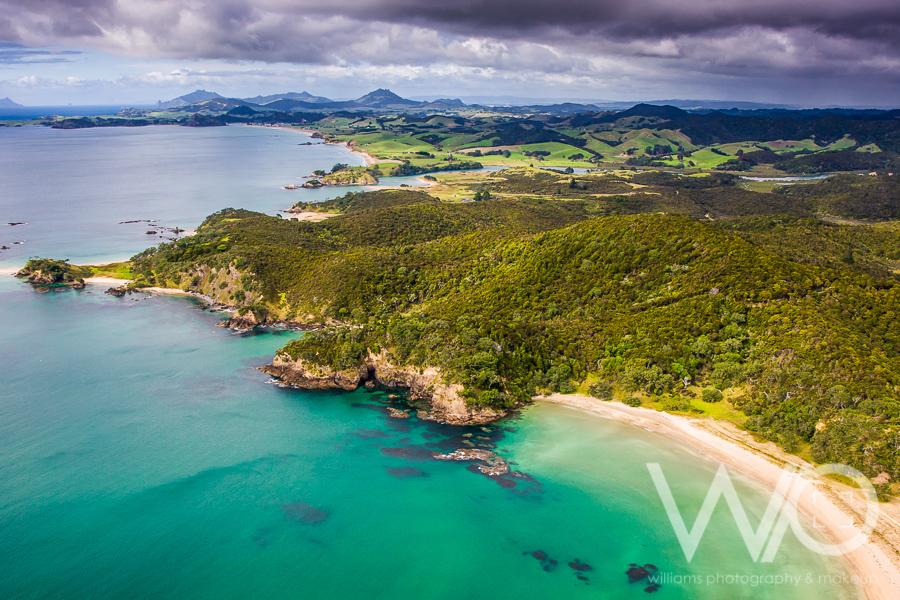 Whangaumu Bay aerial photo