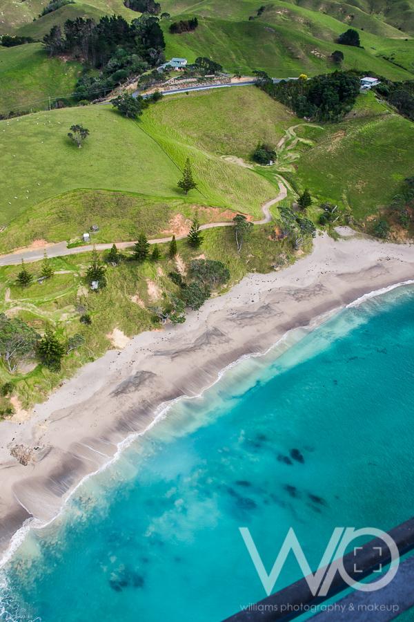 Whananaki aerial photo