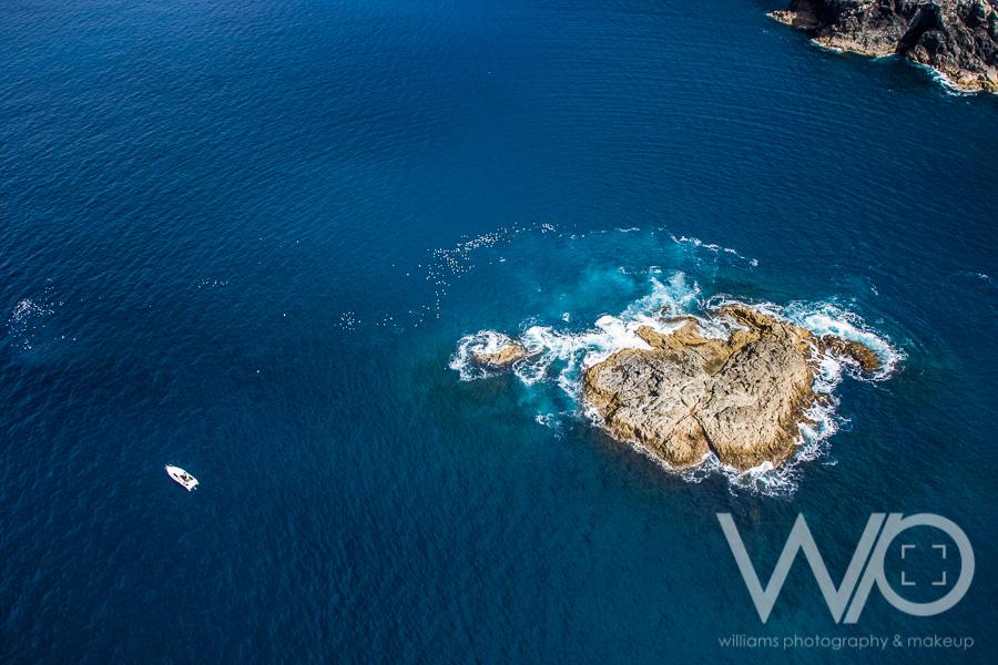Waiwiri Rock fishing spot - aerial photo