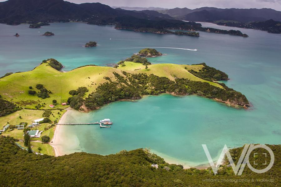 Urupukapuka Island aerial photo - bay of islands - fullers