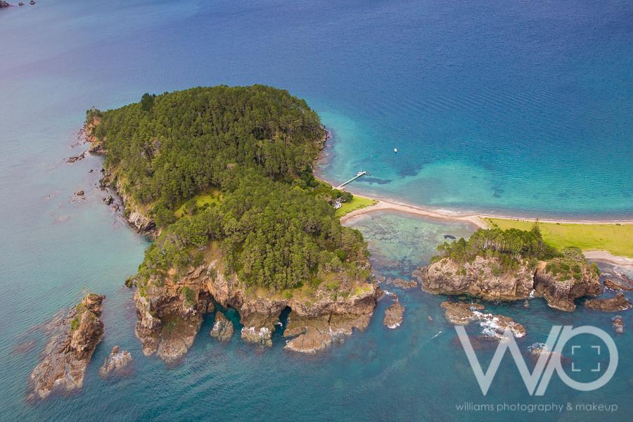 Motuarohia Island aerial photo