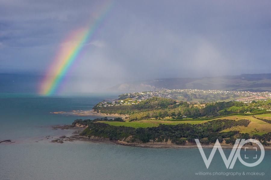Whangaparaoa Rainbow aerial photo