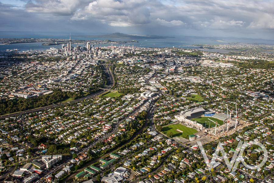 Eden Park & Auckland City aerial photo