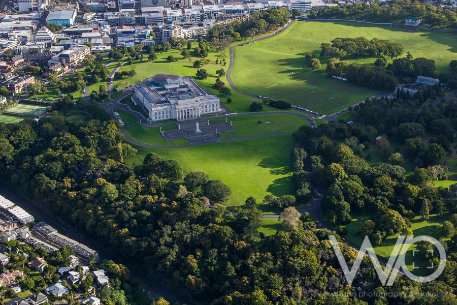 Auckland Museum aerial photo