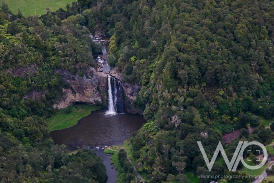 Hunua Falls aerial photo