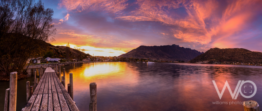Sunrise over The Remarkables Panoramic