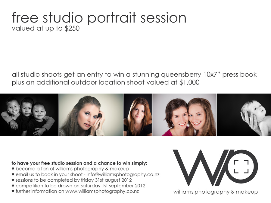 Free Auckland Studio Shoot Win